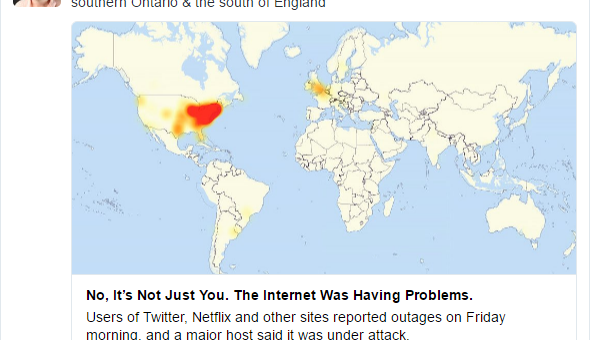 BREAKING: Massive Internet Blackout Cyber Attack; Twitter, PayPal & More