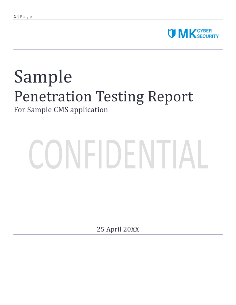 Sample CMS Application - Penetration Testing Report v1.0 - Partial1